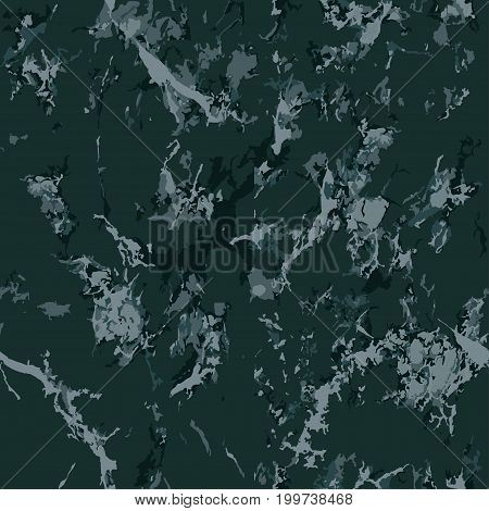 Green marble texture. Seamless pattern. Overlay distress grain. Holiday background. Suitable for Christmas background. The color is spruce. Vector. EPS10.