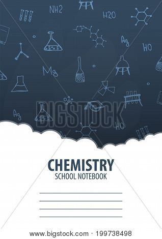Chemistry School Notebook Template. Back To School Background. Education Banner.