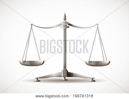 Scales concept - equal concept - lawyer symbol