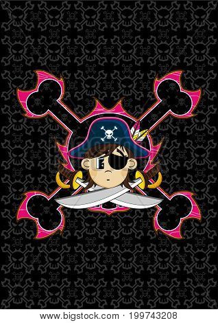 Pirate Captain With Skulls.eps