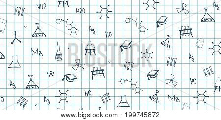 Chemistry Subject. Back To School Background. Education Banner.