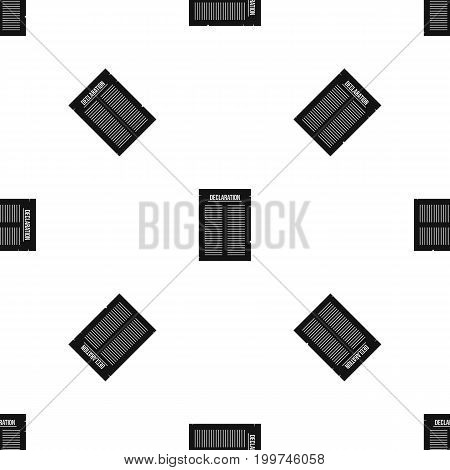 Declaration of independence pattern repeat seamless in black color for any design. Vector geometric illustration