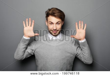 lifestyle, business and people concept: portrait of a young business man surprised face expression