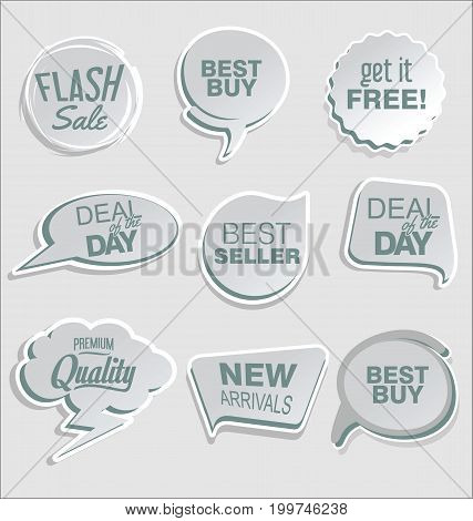 Abstract Modern Vector Sticker Collection 4.eps