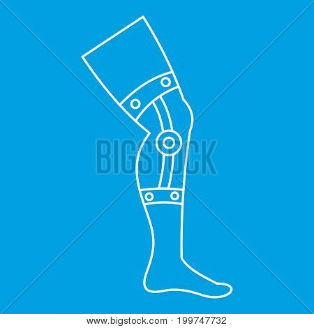 Retentive bandage icon blue outline style isolated vector illustration. Thin line sign