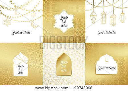 Eid al adha mubarak greeting card vector photo bigstock eid al adha mubarak greeting card banner poster logo with lantern crescent m4hsunfo