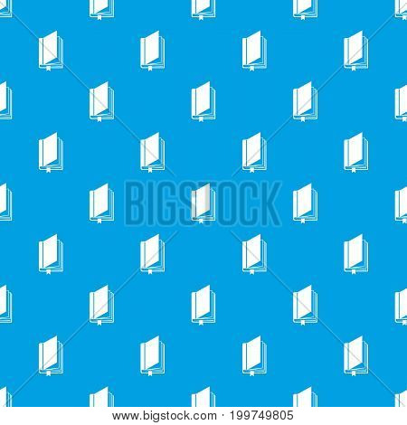 Book with bookmark pattern repeat seamless in blue color for any design. Vector geometric illustration