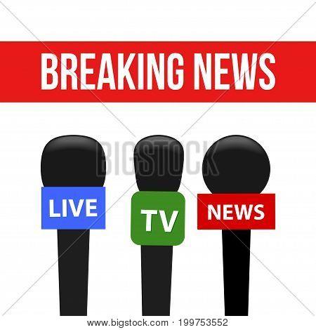 Breaking News Pattern Background.