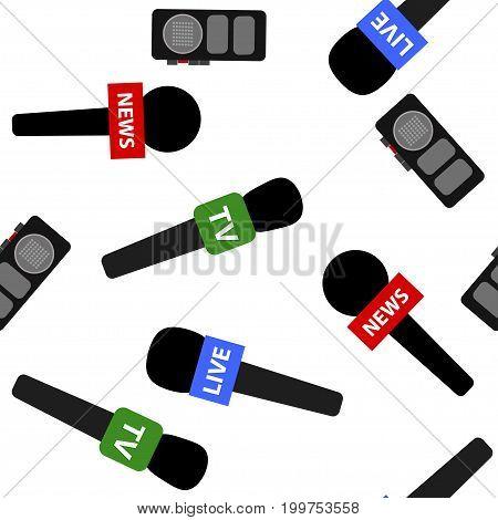 Breaking News Seamless Pattern Background.