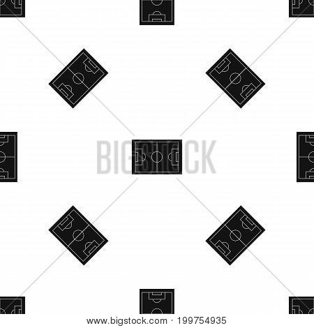 Soccer field pattern repeat seamless in black color for any design. Vector geometric illustration
