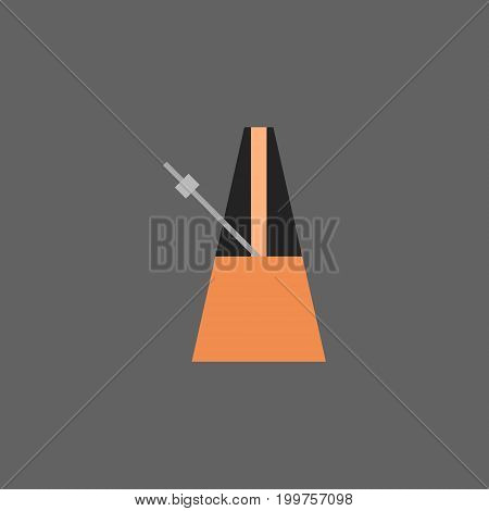 Metronome Icon Music Equipment Concept Flat Vector Illustration