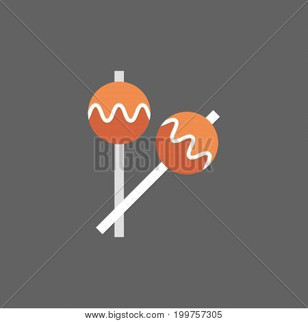 Maracas Icon Drums Music Instruments Flat Vector Illustration
