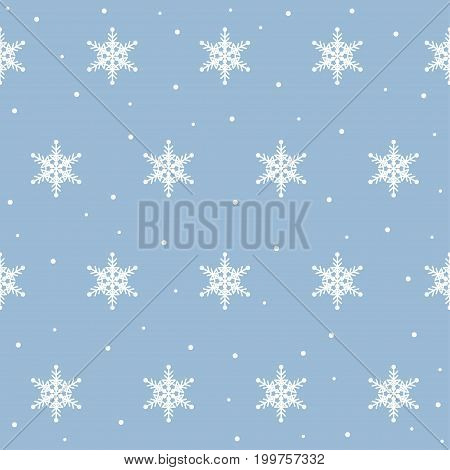 Snowflake Seamless Pattern Background For Design Winter Wallpaper