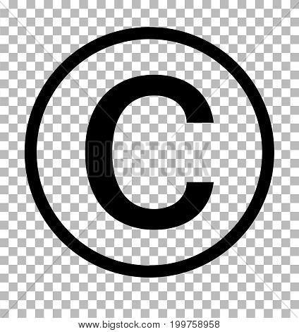 copyright symbol on transparent background. copyright sign. copyright icon