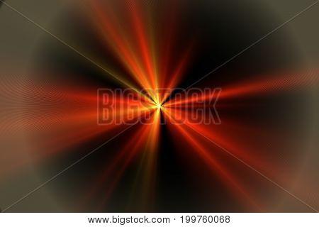 Solar Lens Flare On Black Background Illustration