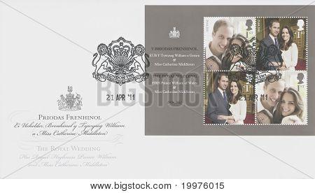 LONDON, UK - APRIL 29: Prince William and Kate Middleton royal wedding, April