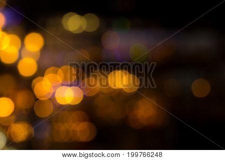 City Lights Blur Bokeh Night Out Of Focus.