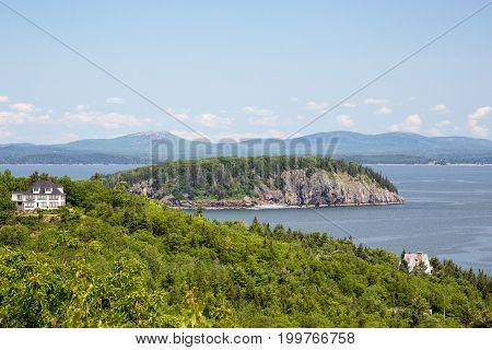 Egg Rock Overlook In Acadia National Park