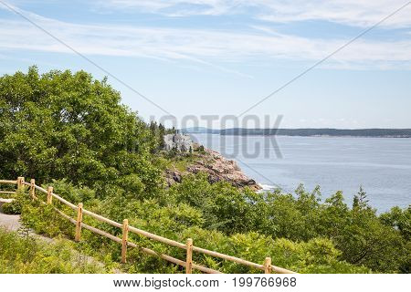 Schooner Head Overlook In Acadia National Park