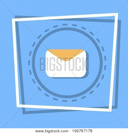 Envelope Icon Email Message Concept Flat Vector Illustration