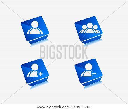 User Web Icon Design Element