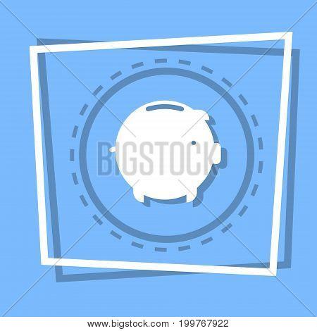 Piggy Bank Icon Savings Money Concept Web Button Flat Vector Illustration