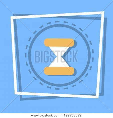 Sand Clock Icon Time Watch Concept Flat Vector Illustration