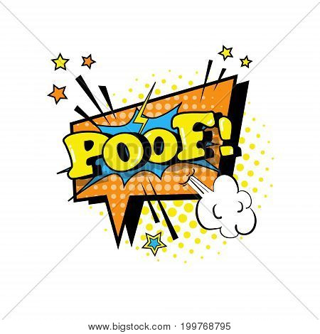 Comic Speech Chat Bubble Pop Art Style Poof Expression Text Icon Vector Illustration