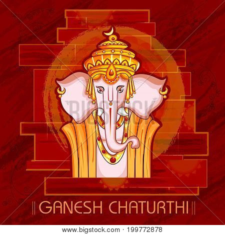 vector illustration of Lord Ganapati for Happy Ganesh Chaturthi festival background