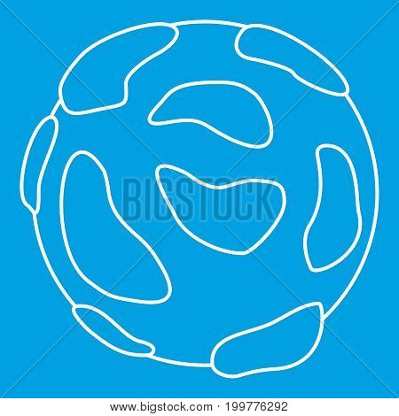 Beautiful planet icon blue outline style isolated vector illustration. Thin line sign
