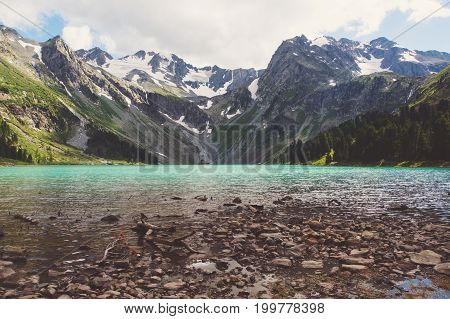 Rocks Near Multinskoe Lake, Altai Mountains. Russia