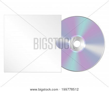 Cd, dvd isolated icon. Compact disc realistic sign.