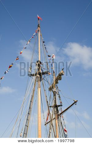 Masts Of A Sailing Ship
