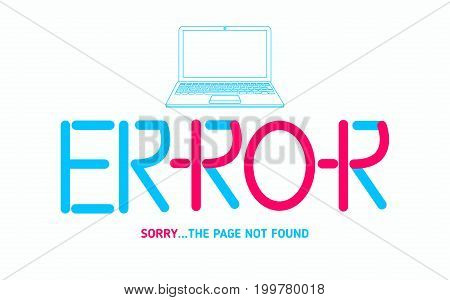 ERROR 404 page not found design template for web background graphic