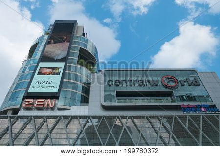 BANGKOK THAILAND - MARCH 18 2017: Centralworld is the largest shopping mall in Thailand was opened in 1990 as originally named World Trade Center.