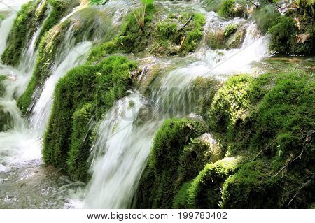rapid in the national park Plitvice, Croatia