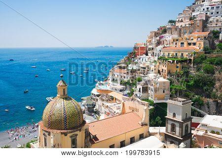 view of Positano - famous old italian resort, Italy