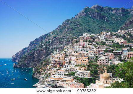 view of Positano - old italian resort, Italy