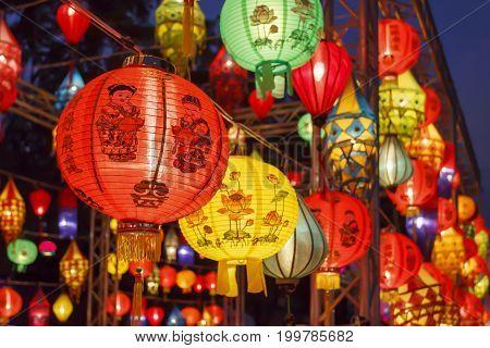 Asian lanterns in international lantern festival .