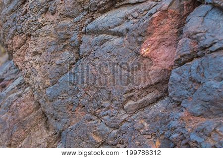 Background of iron ore. Iron ore texture closeup