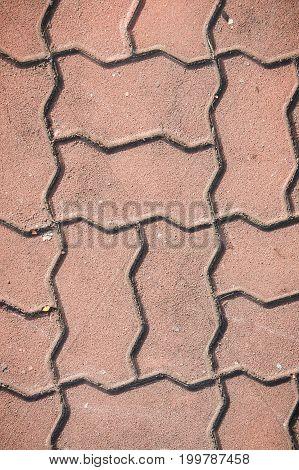 texture paving stone blocks build footpath background