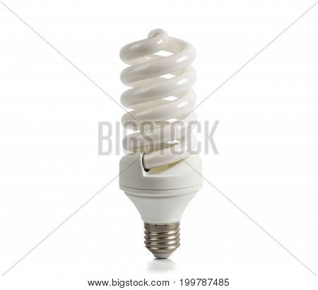 Economical halogen white lamp on a white background