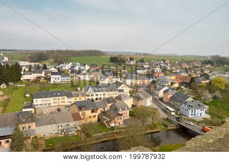 View of the village of Useldange in the Grand Duchy of Luxembourg