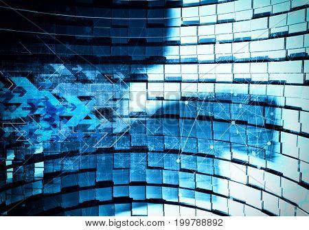 3D rendering of digital technology background