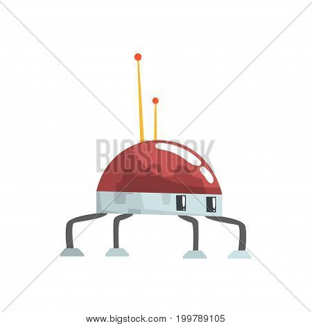Cute cartoon robot spider character vector Illustration on a white background