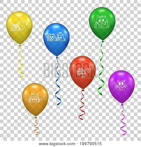 Vector ballon for party or birthday. colorful illustration