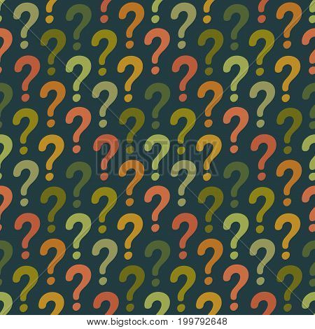 Question mark seamless pattern. Vector abstract background