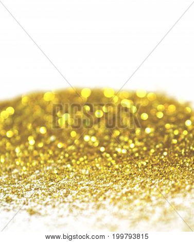 Textured background with golden glitter. Photographic filters were used, nostalgic colors