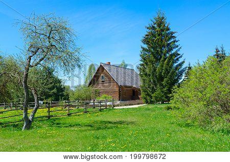ZDRAVNEVO BELARUS - MAY 18 2017: Territory of museum-estate of great russian painter I.E. Repin