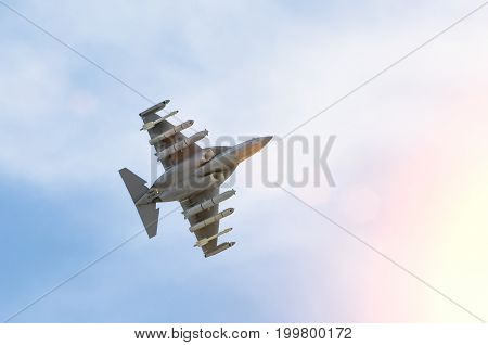 Fighter Combat In The Sky Flies